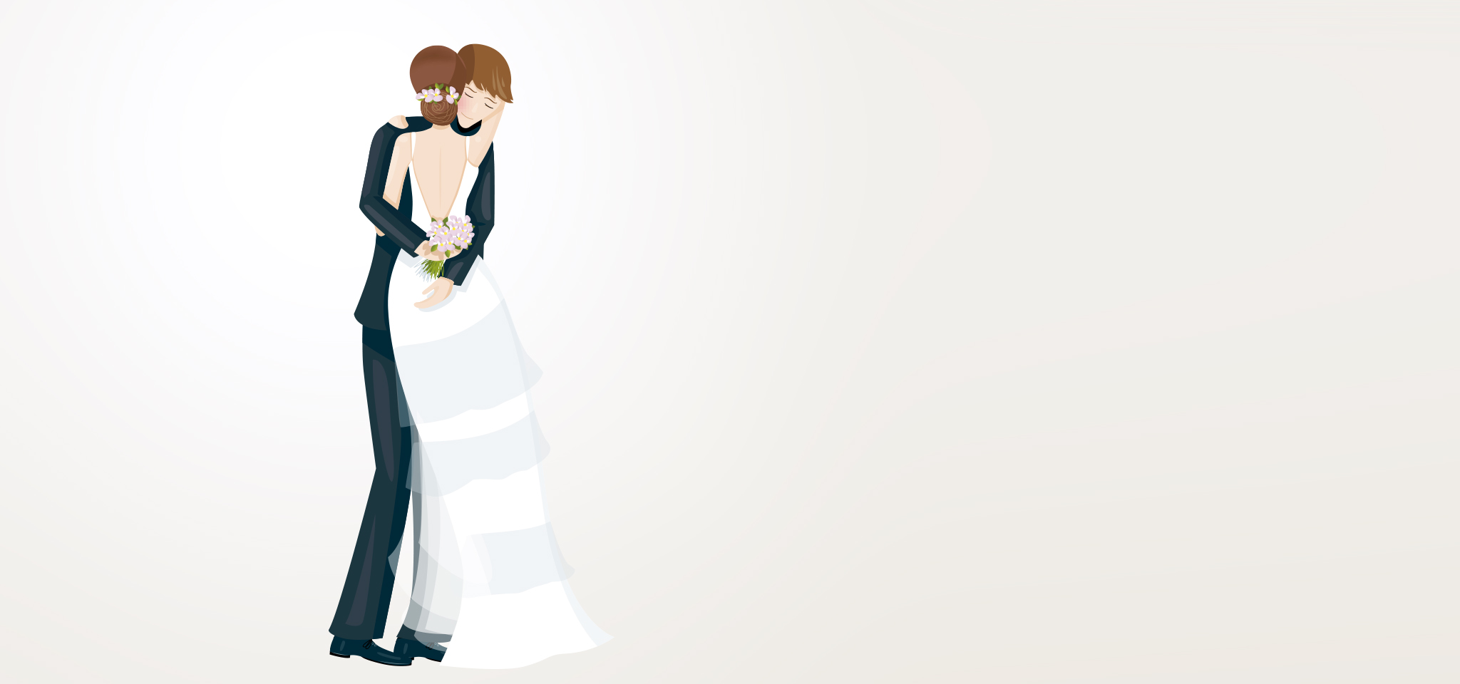 Illustration faire-part de mariage couple